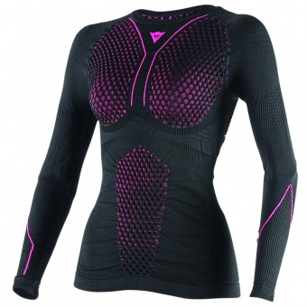 Kaltwetter-Unterziehtop Dainese D-Core Thermo Tee LS Lady Black Pink