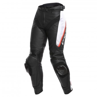 Motorradhose Dainese Delta 3 Black White Red