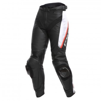 Motorradhose Dainese Delta 3 Lady Black White Red