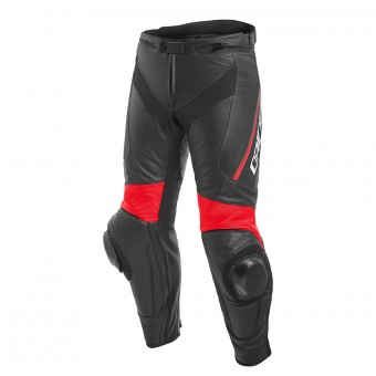 Motorradhose Dainese Delta 3 Perforated Black Fluo Red