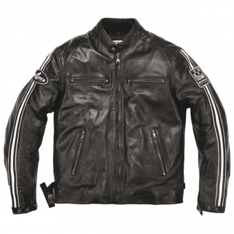 Motorradjacke Helstons Ace Leather Rag Black