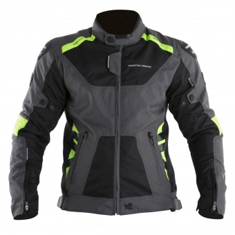 Motorradjacke V'Quattro SP-21 Black Grey Yellow