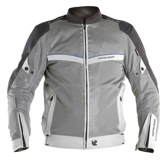 Motorradjacke V'Quattro VE-21 Cream Grey Blue