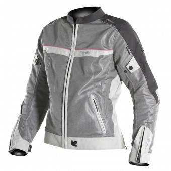 Motorradjacke V'Quattro VE-21 Lady Cream Grey Pink