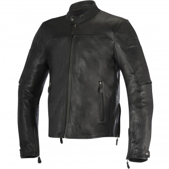 Motorradjacke Alpinestars Brera Leather Black