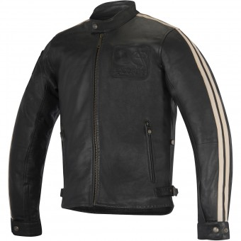 Motorradjacke Alpinestars Charlie Leather Black Sand