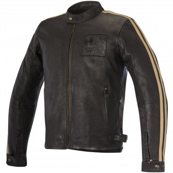 Motorradjacke Alpinestars Charlie Leather Vintage Brown Sand