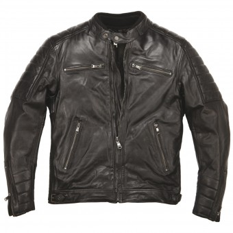 Motorradjacke Helstons Cruiser Leather Rag Black