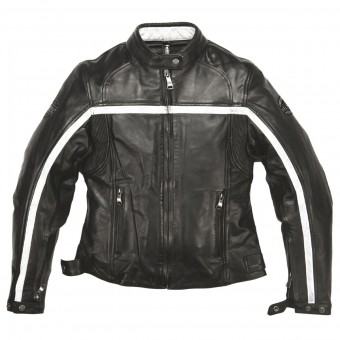 Motorradjacke Helstons Daytona Woman Leather Rag Black