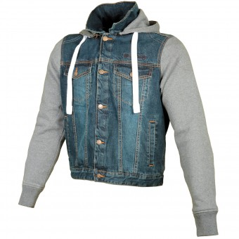 Motorradjacke Booster Denim Hoodie Men