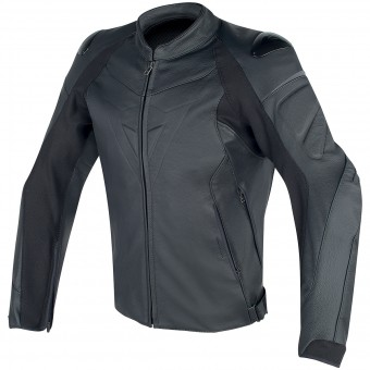 Motorradjacke Dainese Fighter Leather Black