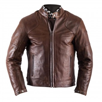 Motorradjacke Helstons Heat Leather Antik Brown