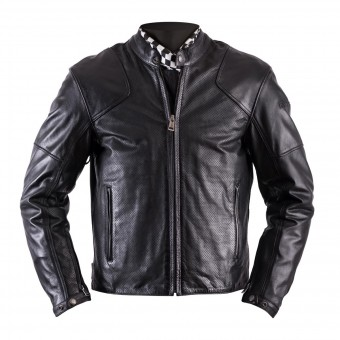 Motorradjacke Helstons Heat Leather Antik Perforated Black