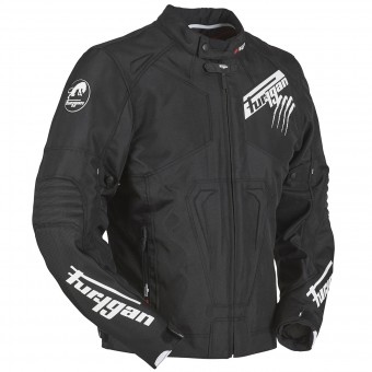 Motorradjacke Furygan Hurricane Black White