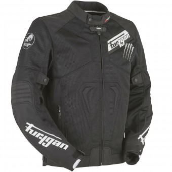 Motorradjacke Furygan Hurricane Vented Black White