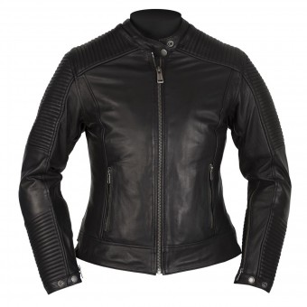 Motorradjacke Helstons Razzia Leather Rag Black