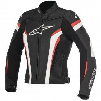 Motorradjacke Alpinestars Stella GP Plus R V2 Black White Red