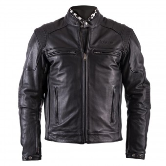 Motorradjacke Helstons Trust Leather Plain Black