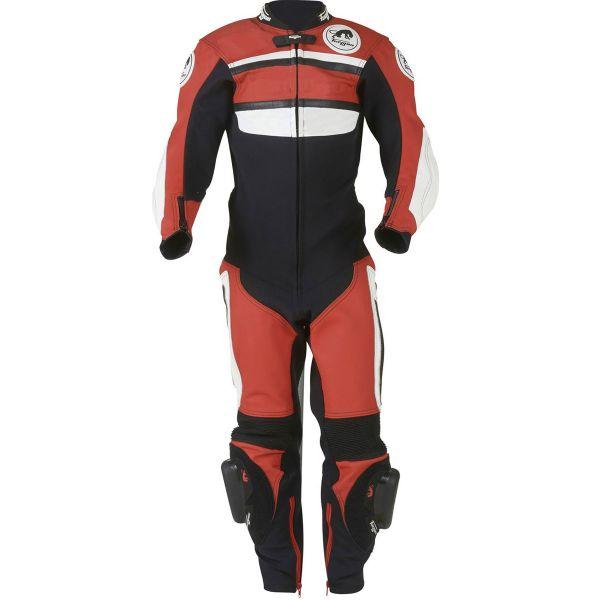 Motorrad-Lederkombi Furygan Combi Enfant Schwarz Rot Weiß