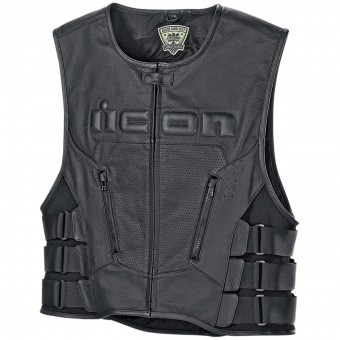 ärmellose Motorradweste ICON Regulator D3O Vest Black