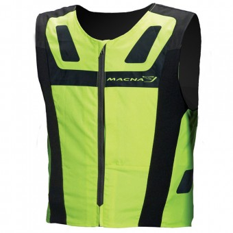ärmellose Motorradweste Macna Vision 4 All Plus Neon Yellow