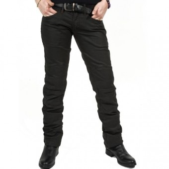 Motorradjeans Esquad Chiloë Black Brown Waxed