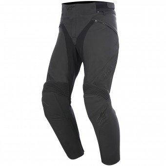 Motorradhose Alpinestars Jagg Leather Black Black
