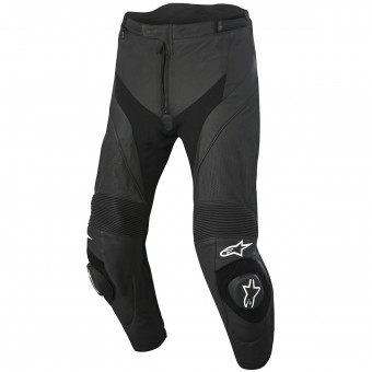 Motorradhose Alpinestars Missile Airflow Leather Black