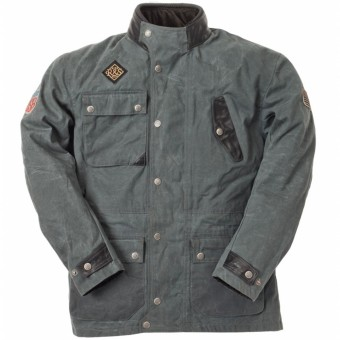 Motorradjacke Ride & Sons Escape Waxed Anthracite