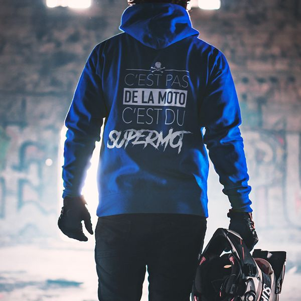 Kikaninac Blue Supermot Sweat Hoodie