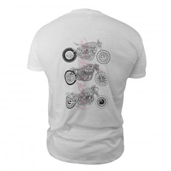 Motorrad T-Shirts  iCasque Arrogance Motorcycles White