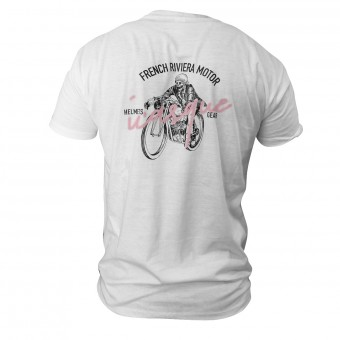 Motorrad T-Shirts  iCasque French Skull Riviera White