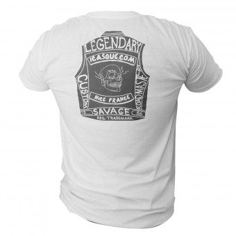 Motorrad T-Shirts  iCasque Legendary Cut White