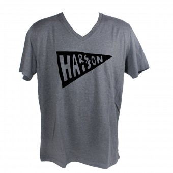 Motorrad T-Shirts  HARISSON Flag Grey