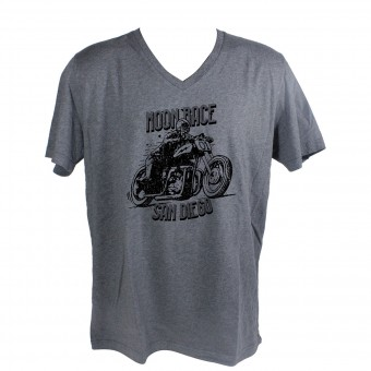 Motorrad T-Shirts  HARISSON Moon Race Grey