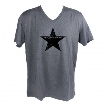 Motorrad T-Shirts  HARISSON Star Grey
