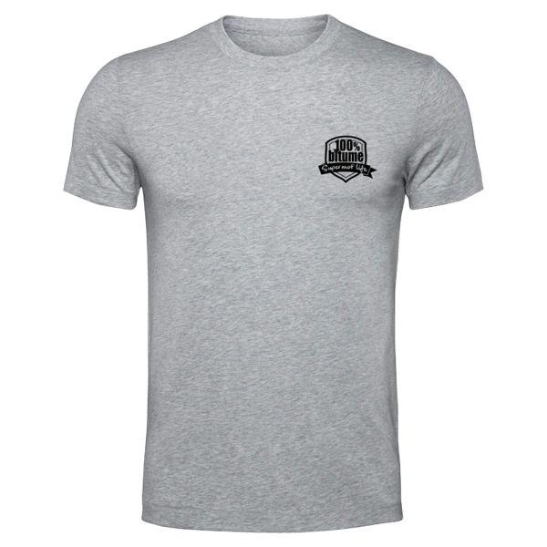 Motorrad T-Shirts  100% Bitume Supermot Life Grey