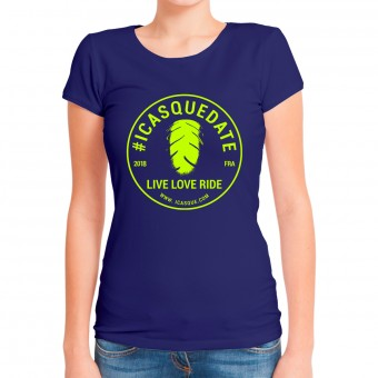 Motorrad T-Shirts  iCasque Tee-Shirt Lady icasquedate3